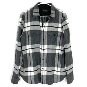 EUC Rag & Bone Jack Brushed Flannel Shirt Jacket
